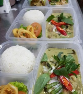 green curry rice set