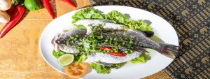 Steamed Seabass with Thai green chilli rattana 1680